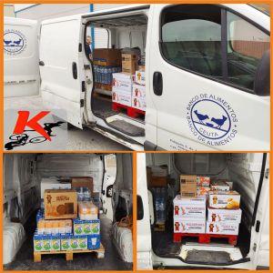 Imágenes de la donación realizada por Afrikanos al Banco de Alimentos de Ceuta