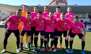 El Ciudad de Lucena, uno de los participantes en el play off de ascenso a Segunda B, en su visita de esta temporada a Ceuta