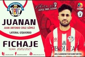 Juanan Cruz defenderá los colores del Atlético Porcuna