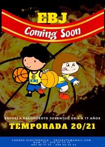 Cartel de la nueva Escuela de Baloncesto Juventud