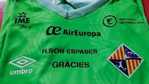 Una de las camisetas que lucirán los jugadores del Palma Futsal en el 'play off' por el título