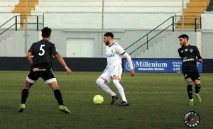Una imagen del último partido del Ceuta ante el Utrera, uno de los equipos que jugará el 'play off' exprés