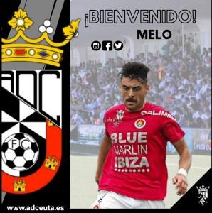 Así ha anunciado la AD Ceuta FC el fichaje de Melo