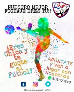 Cartel anunciador de la captación de jugadoras puesta en marcha por el Ramón y Cajal