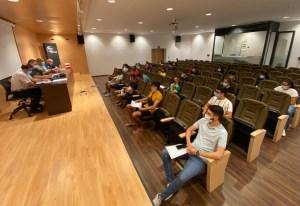 Un momento de la reunión celebrada este jueves en la Ciudad del Fútbol de Ceuta