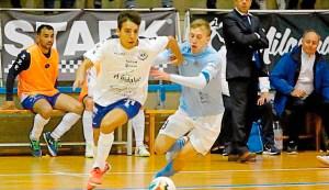 Santi Valladares, en su etapa en el Santiago Futsal