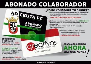 Los aficionados del Ceuta que saquen el carné de abonado colaborador se beneficiarán de de ciertas ventajas