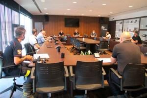 Un momento de la reunión de este martes en la sede de la Territorial ceutí / Foto: FFCE