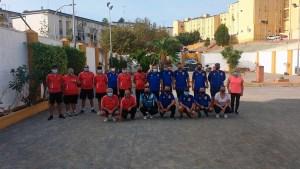 Imagen de todos los participantes en la previa de la Liga Nacional de Clubes de este domingo