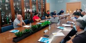 Un momento de la reunión de la Comisión de Fútbol Juvenil de la RFAF