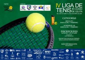 Cartel anunciador de la IV Liga de Tenis Ciudad de Ceuta
