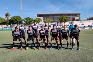 Formación de la AD Ceuta FC este domingo en el 'Perez Ureba' de Conil