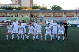 Formación de la AD Ceuta FC, este sábado ante el Antoniano