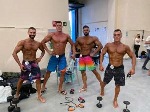 Los cuatro competidores ceutíes, este sábado en Marbella