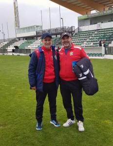 Tayo y Fuad Harrus, en una imagen de archivo el estadio El Palmar de Sanlúcar