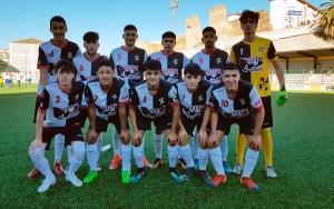 Formación del Sporting de Ceuta, este sábado en el José Benoliel