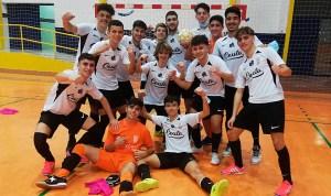 Los jugadores del Deportivo Ceutí celebran el triunfo ante el Escuela Élite de Cádiz