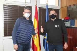 Antonio García Gaona y Antonio Gómez, este jueves en las instalaciones de RTVCE