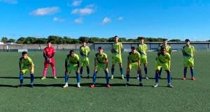Once inicial del CD Polillas, este sábado en la Ciudad Deportiva del Recreativo de Huelva