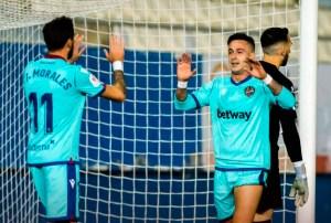 El Levante ha tenido un plácido encuentro ante el Racing de Murcia