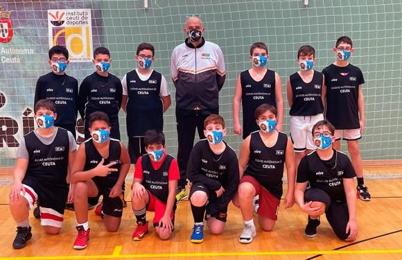 Uno de los equipos participantes en la actividad de la Federación de Baloncesto de Ceuta