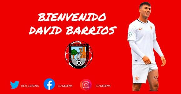 Así ha anunciado este viernes el CD Gerena la incorporación de David Barrios