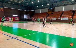 Una imagen del partido disputado este domingo en el pabellón 'José Manuel Calderón'