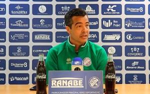 José Pérez Hererra, este viernes en la rueda de prensa que ha ofrecido tras el entrenamiento del Xerez DFC