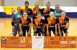 Formación del Camoens, con el que han debutado las uruguayas Fati Villar y Maura Scaletti