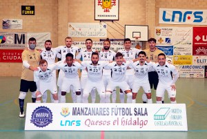 Formación de la UA Ceutí FS, este domingo en Manzanares