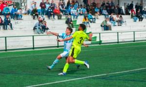 Jalid, durante el partido del pasado domingo en Lebrija / Foto: Mario