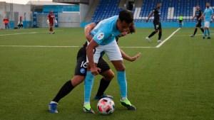 Un lance del partido que ha medido este miércoles a Ciudad de Lucena y Xerez DFC