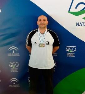 El nadador del CN Caballa Manuel Pastor