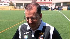 José Juan Romero, entrenador de la AD Ceuta FC, feliz tras la victoria ante el San Roque de Lepe
