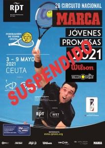Cartel del torneo suspendido por el Covid-19