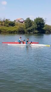 Los dos cadetes de Los Delfines que han competido en Trasona