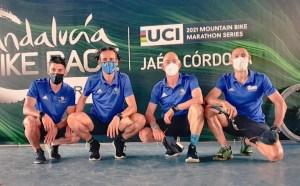 Los cuatro competidores ceutíes en la Andalucía Bike Race