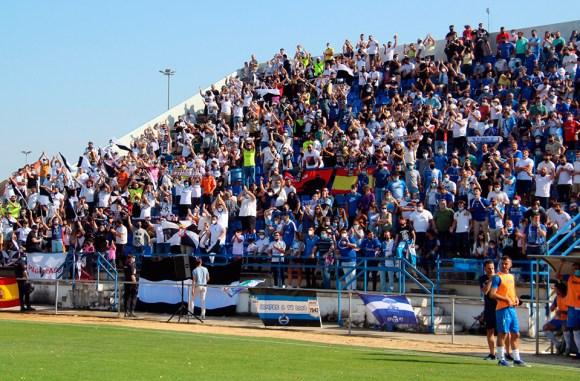 La afición del Ceuta ha disfrutado y se ha hecho notar en La Juventud