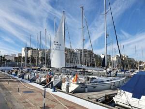 Barcos participantes, en el pantalán del Puerto Deportivo