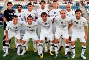 Una formación de la AD Ceuta en  la temporada 11-12