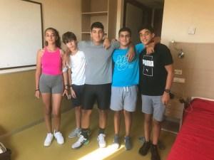 Imagen de los cinco palistas que van a representar a Ceuta en el Nacional de Jóvenes Promesas