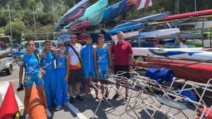 Los jóvenes palistas de Los Delfines han recibido la visita del olímpico ceutí José Ramón López Díaz-Flor
