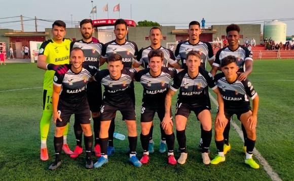 Formación de la AD Ceuta FC este jueves en La Algaida