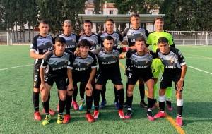Formación de la AD Ceuta FC 'B', este sábado en el campo de La Unión
