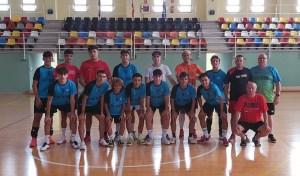 Los integrantes del Deportivo Ceutí, este miércoles en el pabellón 'Guillermo Molina'