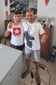 Misffut y Luhay Hamido, este lunes en la sede del club blanco