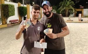 La pareja del Club Miraflores ganadora del torneo