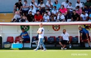 Chus Trujillo, el pasado domingo durante el partido ante la UD Las Palmas Atlético