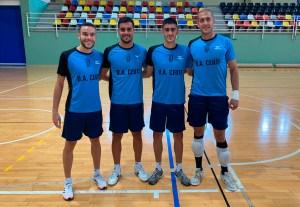 Colacha, a la izquierda, junto Hugo Alonso, Barbero y Germán, otros tres fichajes del Ceutí esta temporada