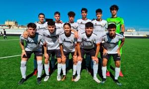 Formación inicial del Sporting Atlético, este sábado en el Alfonso Murube